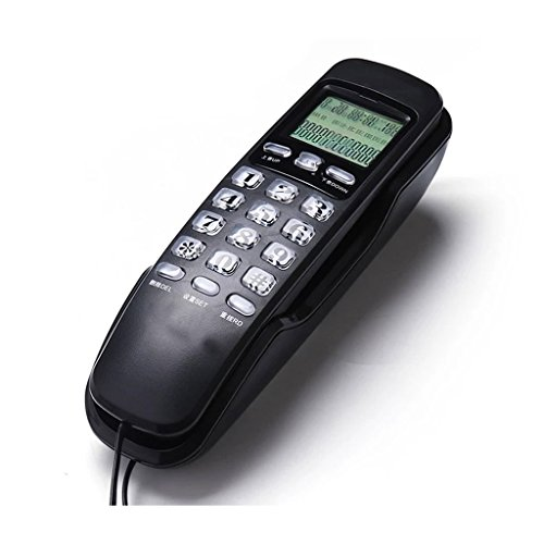 Speakerphone Hotel 2 Line (PCF Home and Office Landline Caller ID Wall Mount Or Desktop Fixed Telephone Hotel School Floor Elevator Small Extension (Color : Black))