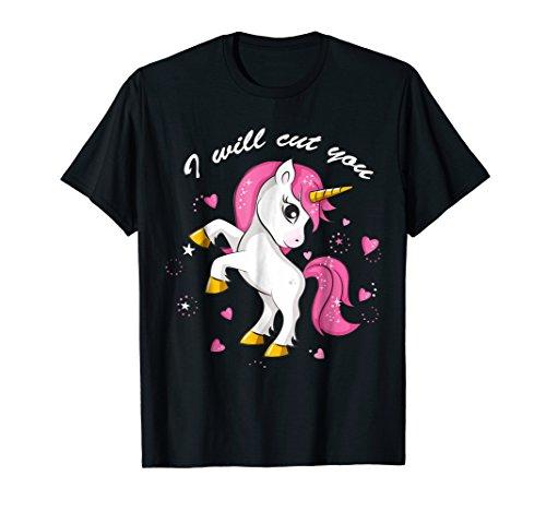 I Will Cut Tee You T Unicorn t-shirt ()