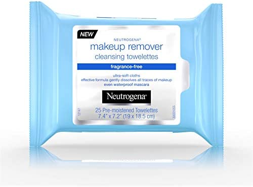 Amazon.com: Neutrogena Makeup Remover Cleansing Towelettes, Fragrance Free, 25 ct: Beauty