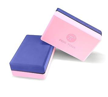 HHH Color de Contraste Bloque Yoga Paquete de 2 Espuma de ...