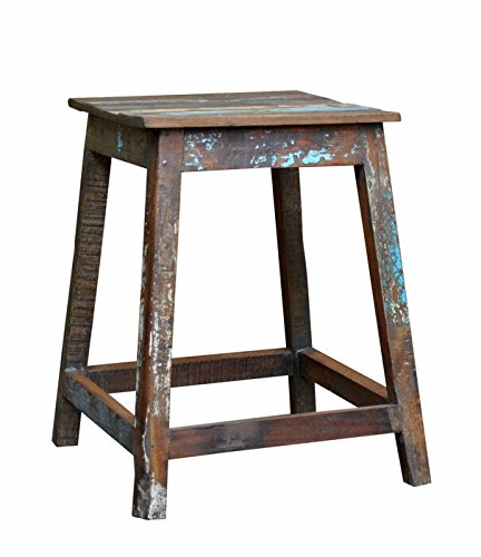 Wooden Stool Handmade Wooden Reclaimed Rustic Shabby Wood Furniture