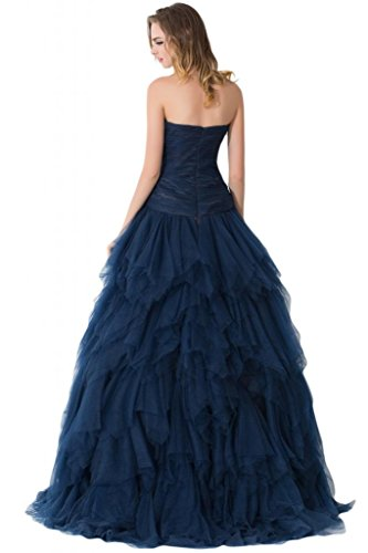 Gowns sera Sunvary Tulle blu per Pageant Spaghetti Prom Gold Cinghia abiti da qzUOnqxv