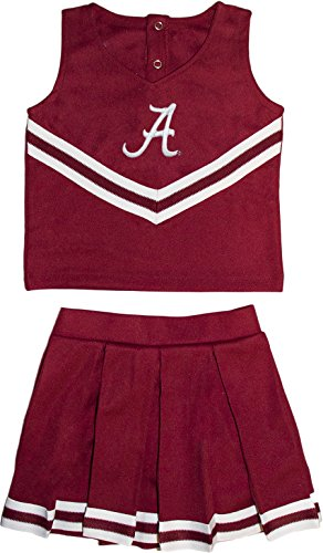 University of Alabama Crimson Tide Toddler and Youth 3-Piece Cheer Dress -