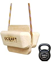 Ucraft Pocket-Sized Climbing Fingerboard | Double-Sided Grip Strength Training Board | Wooden Hang Board for Pull up Grips | Pinch Training Finger Board | Non-Slip, Portable & Lightweight Hang Board