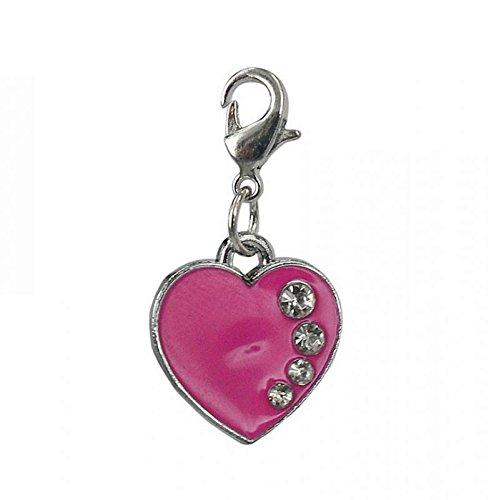 Charm coeur rose de la marque Charming Charms
