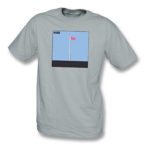 TshirtGrill Draht - rosa Flaggent-shirt, Farbe- Grau