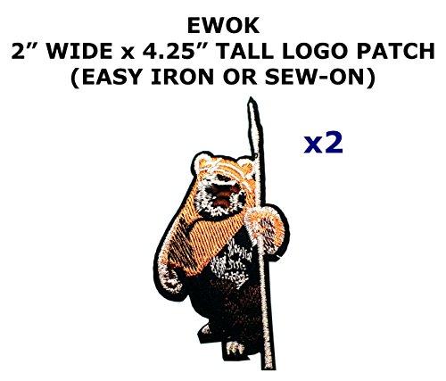 2 PCS Ewok Star Wars Theme DIY Iron / Sew-on Decorative Applique Patches