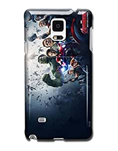 Tomhousomick Custom Design The Avengers Spider-Man Captain America The Hulk Thor Ant-Man Black Widow Iron Man Case Cover for Samsung Galaxy Note 4 N9100 IV 2015 Hot Fashion Style