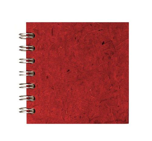 Zen Pink Pig, 4 x 4 Inch Square Sketchbook | 35 White Sheets, 100 Pound | (Burgundy Spiral)