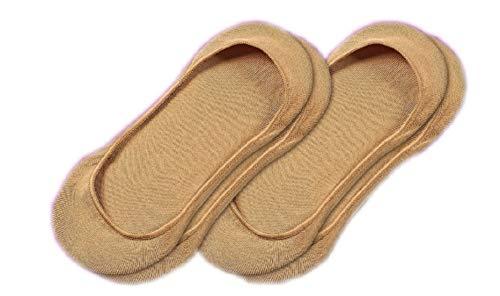 Bombas Women's Low-Cut No Show Sock 2 Pack, Tan, Medium by Bombas