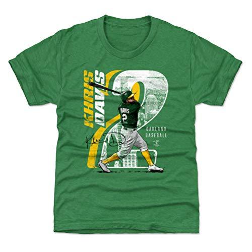 500 LEVEL Khris Davis Oakland Baseball Youth Shirt (Kids Small (6-7Y), Heather Kelly Green) - Khris Davis Swing Y WHT