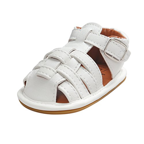 Itaar Baby Boy Summer Stripe Sandals PU Leather Rubber Sole