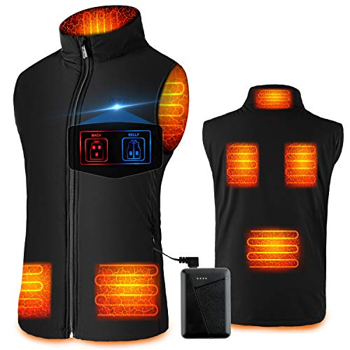 SHAALEK Heated Vest for Men Women - Electric Warming Heated Jacket, Heated Vest with Battery Pack