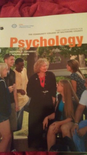 Psychology, Third Custom Edition for the Community College of Baltimore County