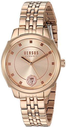 Versus by Versace Women's New Chelsea Quartz Watch with Strap, Rose Gold, 105 (Model: VSP510818)