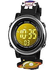 Bigmeda Kids Digitaal Horloge, 3D Cartoon Sport Horloge voor 3-10 Jaar Jongens Meisjes, Tijddatum Display, 7 Kleur Backlight, Stopwatch, Alarm Functies Kids Waterdicht Polshorloge