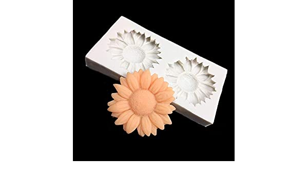 Amazon.com: 3D Mold Silicon - 3D Sunflower Silicone Cake Decoration Handmade Soap Silicone Mold DIY Polymer Clay Crafts Food Grade Silicon