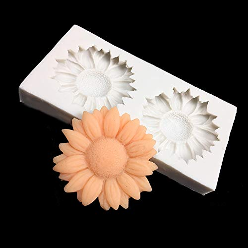 - Cookie cutter |Baking Tools |Sunflower Silicone Cake Border Decoration handmade soap silicone mold DIY polymer clay crafts Food grade silicon|By TINI