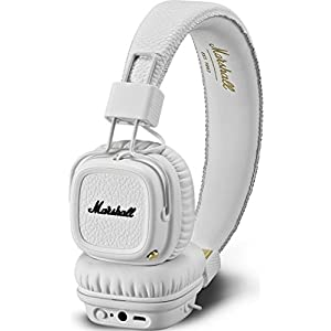 Marshall Major II Bluetooth On-Ear Headphone, White (04091794)