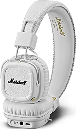 Marshall Major II - Auriculares con diadema (Bluetooth v4.0, Dynamic, conector de 3.5 mm, 98 dB, 20 Hz-20 kHz)  color blanco: Amazon.es: Electrónica