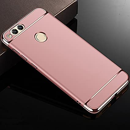 low priced 2a568 0db1e ALDIVO Chrome 3 in 1 Luxury Full body Protective Back Cover for Huawei  Honor 7X (Rose Gold)