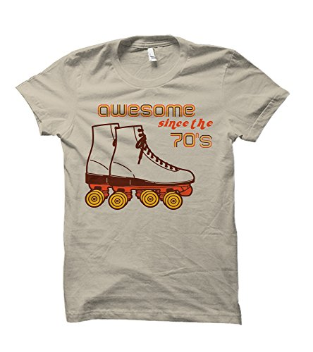 's Retro Style Ringspun Adult T-Shirt (3XL, Sand) (70's Tee)