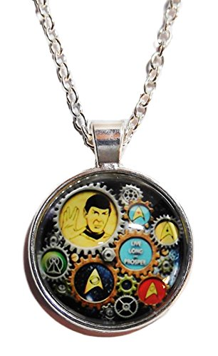 Star Trek SPOCK TRIBUTE Glass Dome PENDANT on 20