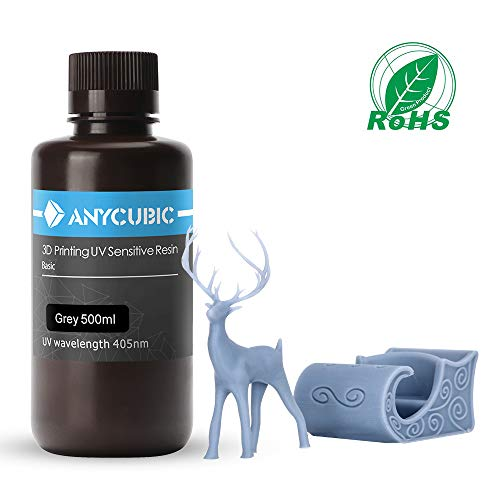 ANYCUBIC 3D Printer Resin, 405nm SLA UV-Curing Resin with High Precision and Quick Curing & Excellent Fluidity for LCD…