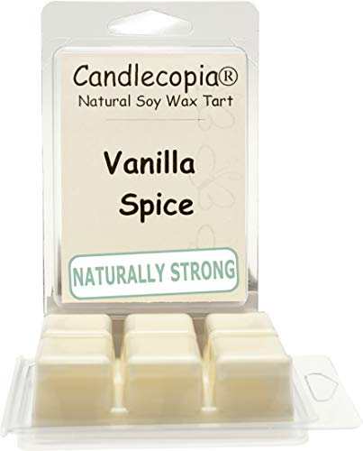 Candlecopia Vanilla Spice Strongly Scented Hand Poured Vegan Wax Melts, 12 Scented Wax Cubes, 6.4 Ounces in 2 x 6-Packs
