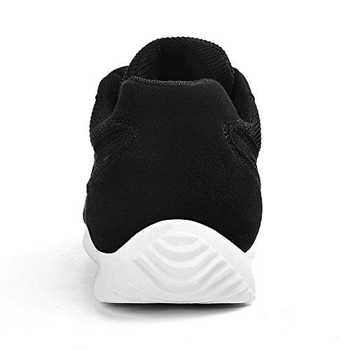 Feetmat Herren Laufschuhe Fashion Sneakers Leichte atmungsaktive Sport  Wanderschuhe SchwarzWeiss