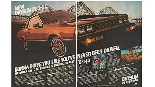 Magazine Print ad: 1980 Datsun 200-SX Sport Coupe and Hatchback