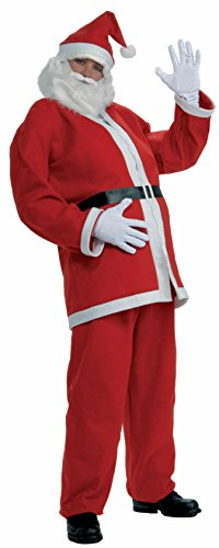 Forum Novelties Simply Santa Costume, White/Red, One Size ()