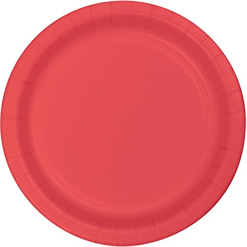 Creative Converting 793146B Touch of Color Round Luncheon Plate, 7