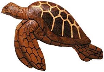 Hawaiian Style Wood Wall Hanging Honu Turtle 8 x 5 inch