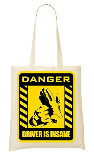 Danger Driver Is Insane Bolso De Mano Bolsa De La Compra