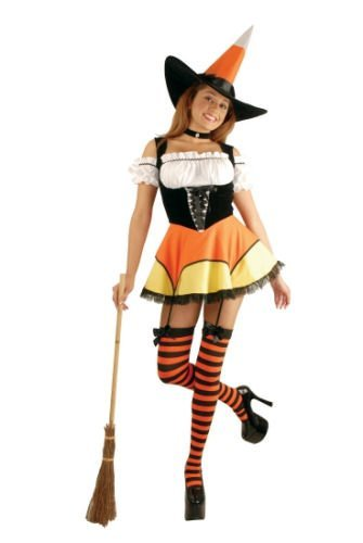 n/Junior Costume - Teen Small (Candy Corn Witch Teen)