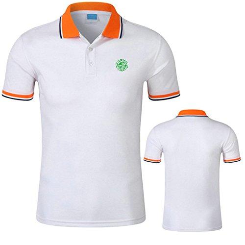 Mystic YU-1 Retor Printing Logo Casual Cotton Polo Shirt For Unisex-W-XXL