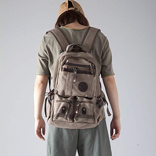 Fsweeth La borsa da viaggio di grandi capacità doppia tracolla Borsa alpinismo outdoor bag sacca bagagli zaino pacchetto di viaggio, alta 45cm larghezza 34cm di spessore di 16cm, scheda di luce la sua