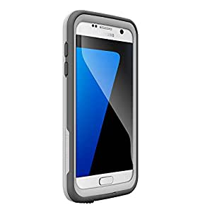 LifeProof FRĒ SERIES Waterproof Case for Samsung Galaxy S7 - Retail Packaging - AVALANCHE (BRIGHT WHITE/COOL GRAY)