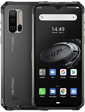 中国ブランドの電話 2.2GHzの、ネットワークへのトリプルバックカメラ、IP68 / IP69K防水防塵耐衝撃、顔ID&指紋認証、5500mAhバッテリー、6.3インチのAndroid 9.0エリオのP90 MTK6779オクタコアの64ビットアップ:4G、OTG、NFC、IQワイヤレス (色 : Black)