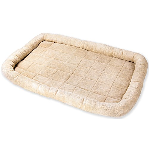 OxGord-Pet-Bed-with-Cozy-Inner-Cushion-48-Inch-XXXXL-Beige-Brown-Tan