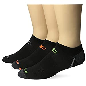 Champion Men's 3 Pack No Show Training Socks, Black Assortments Accents, Sock Size: 10-13/Shoe Size:9-11