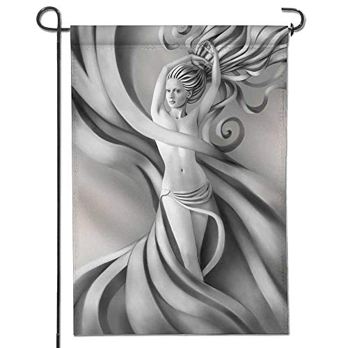 Tissue Kentucky Wildcats - Jiahonghome Nice Design Hello Summer Beautiful Nude Woman with a Tissue Over her Hips Garden Flag with Garden Flag Stopper Double Sided14 x 21