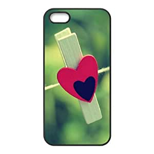 Red and Black Heart IPhone 5,5S Case, Case Vety {Black}