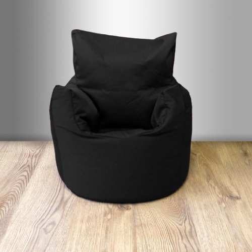 Ready Steady Bed Childrens 100% Cotton Twill Pre-Filled Bean Chair, Black