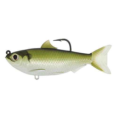 LiveTarget TFS95MS703 Threadfin Shad Series Freshwater Swimbait, Green/Bronze
