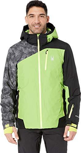 Spyder Active Sports Men's Copper Gore-tex Ski Jacket, Fresh/Black/Cloudy Tonal Distress Print, Medium