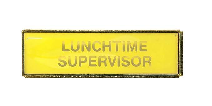 Capricornone Lunchtime Helper Blue Rectangle Budget Badge Gold Finish