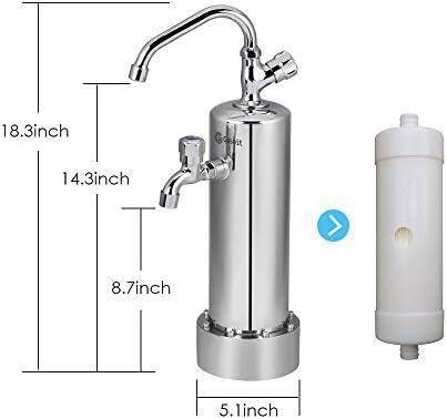 gosoit cocina agua filtro grifo mangueras flexibles de ...