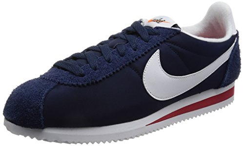 Nike Classic Cortez Nylon Prem, Zapatillas de Deporte Para Hombre, Varios Colores (Midnight Navy Whitevarsity Red), 42.5 EU